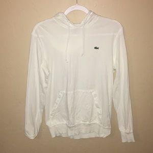 Lacoste White Lightweight Hoodie Sweatshirt